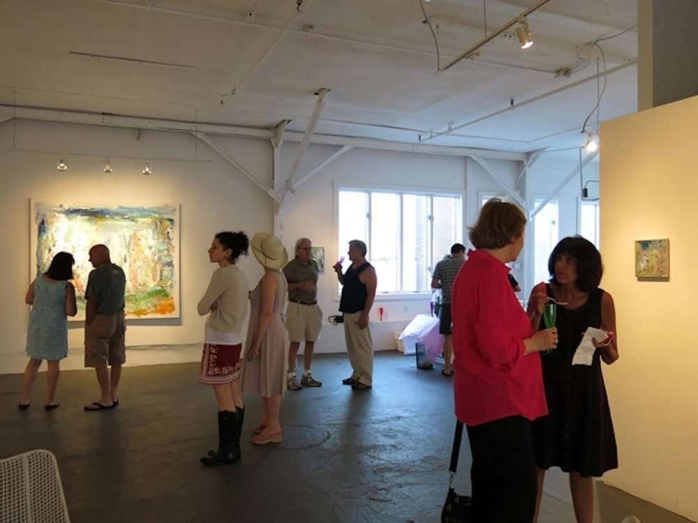 At opening reception of I Quit, Yvette Torres Fine Art, July, 2013